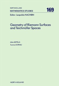 Ebook in inglese Geometry of Riemann Surfaces and Teichmüller Spaces Seppala, M. , Sorvali, T.
