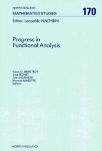 Foto Cover di Progress in Functional Analysis, Ebook inglese di  edito da Elsevier Science