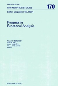 Ebook in inglese Progress in Functional Analysis -, -