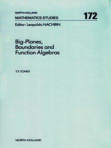 Ebook in inglese Big-Planes, Boundaries and Function Algebras Tonev, T.V.