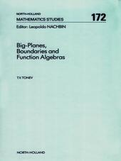 Big-Planes, Boundaries and Function Algebras