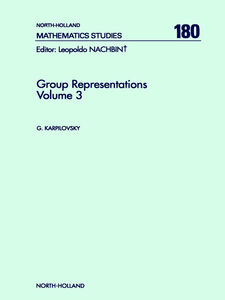 Foto Cover di Group Representations, Ebook inglese di Author Unknown, edito da Elsevier Science