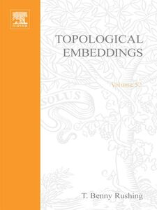 Foto Cover di Topological embeddings, Ebook inglese di  edito da Elsevier Science