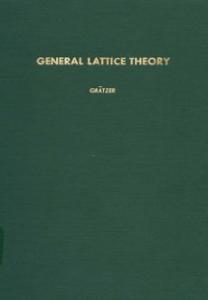 Ebook in inglese General lattice theory -, -