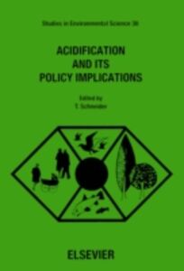 Ebook in inglese Acidification and its Policy Implications -, -