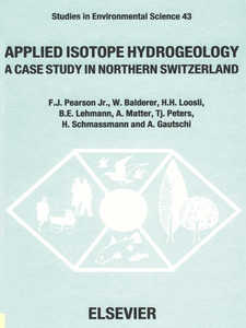 Ebook in inglese Applied Isotope Hydrogeology