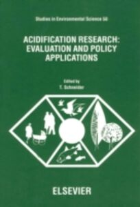 Ebook in inglese Acidification Research: Evaluation and Policy Applications