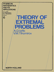 Ebook in inglese Theory of extremal problems -, -