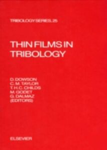 Foto Cover di Thin Films in Tribology, Ebook inglese di  edito da Elsevier Science
