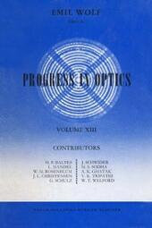 Progress in Optics Volume 13