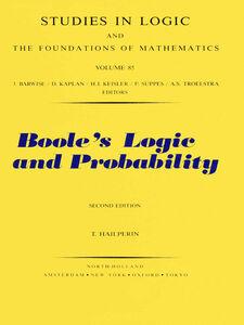 Ebook in inglese Boole's Logic and Probability Hailperin, T.