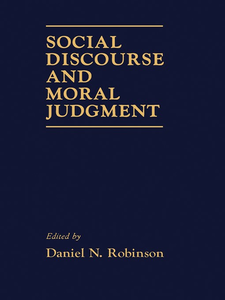 Ebook in inglese Social Discourse and Moral Judgement -, -