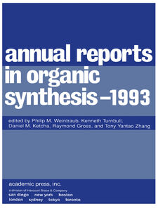 Ebook in inglese Annual Reports in Organic Synthesis 1993