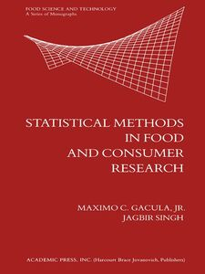 Ebook in inglese Statistical Methods in Food and Consumer Research Jr., Maximo C. Gacula,