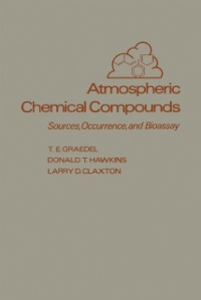 Ebook in inglese Atmospheric Chemical Compounds Claxton, Larry D. , Graedel, T. E. , Hawkins, Donald T.