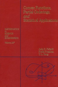 Ebook in inglese Convex Functions, Partial Orderings, and Statistical Applications Peajcariaac, Josip E. , Tong, Y. L.