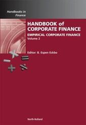 Handbook of Empirical Corporate Finance