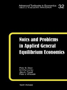 Foto Cover di Notes and Problems in Applied General Equilibrium Economics, Ebook inglese di AA.VV edito da Elsevier Science