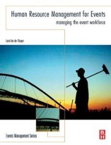 Ebook in inglese Human Resource Management for Events Wagen, Lynn Van der
