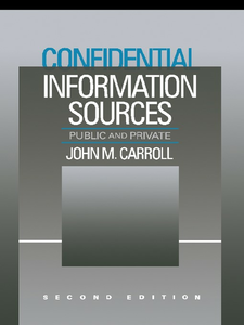 Ebook in inglese Confidential Information Sources Carroll, John M.
