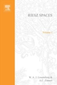 Ebook in inglese Riesz Spaces Luxemburg, W.A.J.