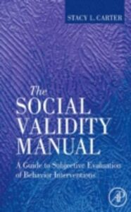 Ebook in inglese Social Validity Manual Carter, Stacy L.