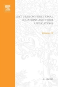 Ebook in inglese Lectures on functional equations and their applications -, -
