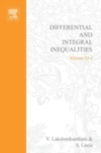 Ebook in inglese Differential and integral inequalities; theory and applications PART A: Ordinary differential equations -, -