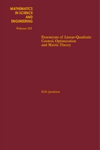 Ebook in inglese Extensions of Linear-Quadratic Control, Optimization and Matrix Theory -, -