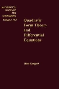Ebook in inglese Quadratic Form Theory and Differential Equations -, -