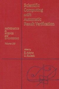 Ebook in inglese Scientific computing with automatic result verification -, -