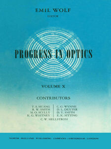 Foto Cover di Progress in Optics Volume 10, Ebook inglese di  edito da Elsevier Science