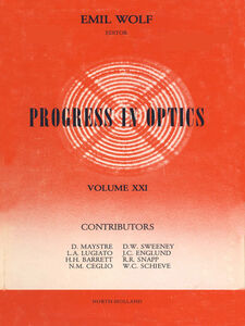 Ebook in inglese Progress in Optics Volume 21 -, -