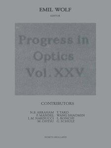 Foto Cover di Progress in Optics Volume 25, Ebook inglese di  edito da Elsevier Science
