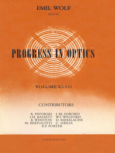 Ebook in inglese Progress in Optics Volume 27 -, -