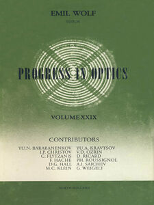 Ebook in inglese Progress in Optics Volume 29 -, -
