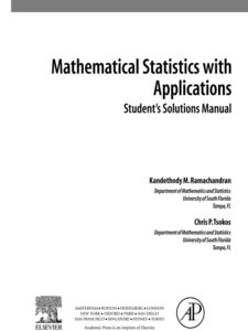 Ebook in inglese Student Solutions Manual, Mathematical Statistics with Applications Ramachandran, Kandethody M. , Tsokos, Chris P.