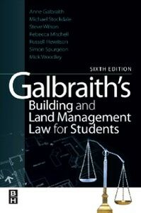 Ebook in inglese Galbraith's Building and Land Management Law for Students Hewitson, Russell , Mitchell, Rebecca , Spurgeon, Simon , Stockdale, Michael