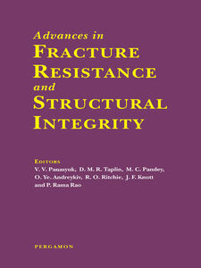 Foto Cover di Advances in Fracture Resistance and Structural Integrity, Ebook inglese di AA.VV edito da Elsevier Science