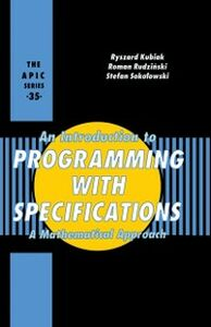 Ebook in inglese Introduction to Programming with Specifications Unknown, Author