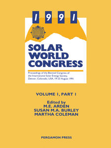 Ebook in inglese 1991 Solar World Congress -, -