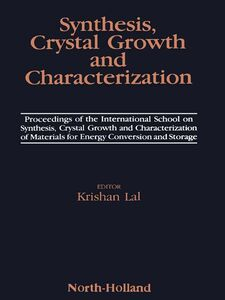 Ebook in inglese Synthesis, Crystal Growth and Characterization -, -