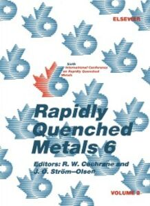 Foto Cover di Rapidly Quenched Metals 6: Volume 2, Ebook inglese di  edito da Elsevier Science