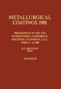 Foto Cover di Metallurgical Coatings 1988, Ebook inglese di  edito da Elsevier Science