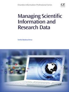 Ebook in inglese Managing Scientific Information and Research Data Baykoucheva, Svetla