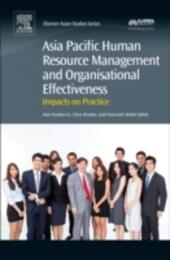 Asia Pacific Human Resource Management and Organisational Effectiveness