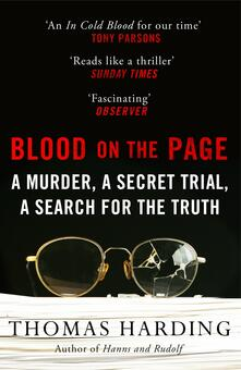 Blood on the Page - Thomas Harding - cover