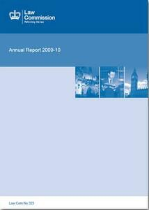 Law Commission (Great Britain) Annual Report: 44th, 2009-10 (Law Commission Report #323) - cover