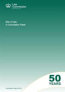 Bills of Sale: A Consultation Paper - Great Britain: Law Commission - cover