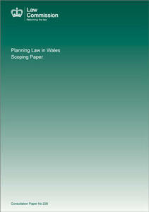 Planning law in Wales: scoping paper - Great Britain: Law Commission - cover